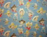 Retro Cowboys with Names on Blue