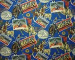 Rodeo Postcards in Blues, Reds and Browns