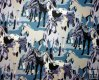 Sunset Herd, Large Horses on Blue