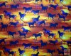 Beautiful Blue to Purple Horses at Sunset� a fabric with a deep