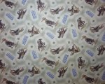 Rodeo Cowboys on Mottled Cream and Tan Background