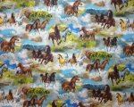 Smaller Running Horses through Water and Clouds, Bright Blues, G