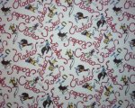 Red Rodeo Buckaroo Broncs on Cream Background