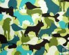 Camo Pets in Multi Greens and Black